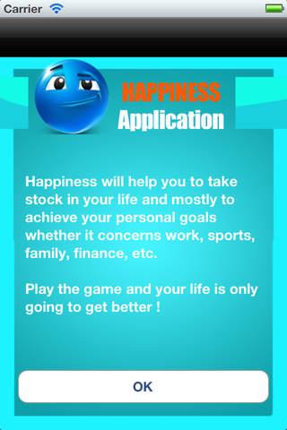 Happiness .
