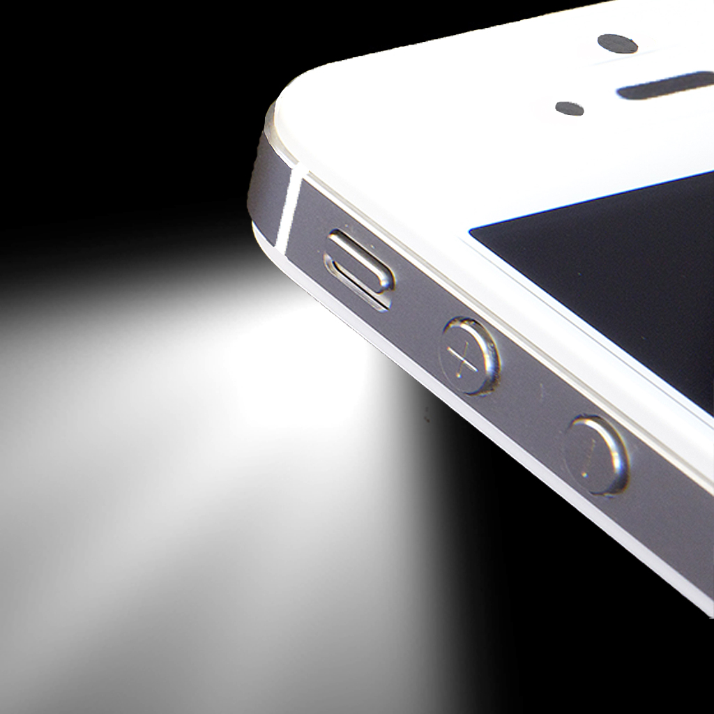 how to add flashlight to iphone