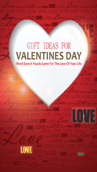 Gift Ideas For Valentines Day Word Search Puzzle Game For The Love Of Your Life Pro