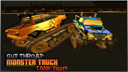Cut-Throat Monster Truck Tank Fight