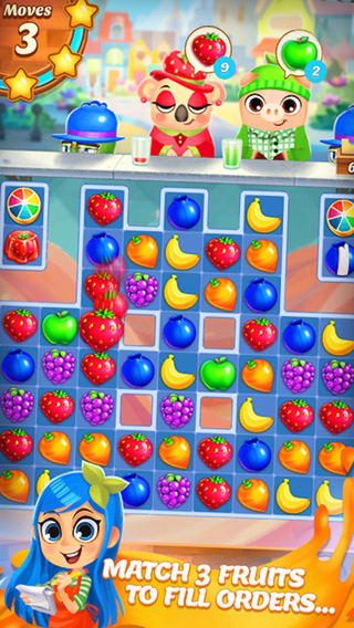 Fruit Heroes - 3 juice mania match puzzle game