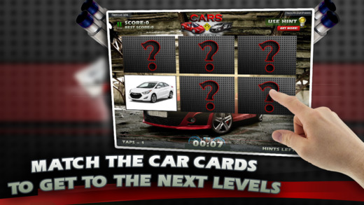 Car Match Card Memory Game Challenge