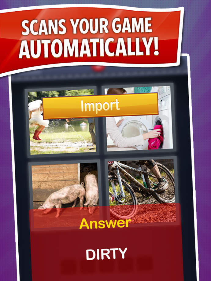 Cheat for 4 Pics 1 Word ~ get all the answers now with free auto game import! - iPhone Mobile Analytics and App Store Data