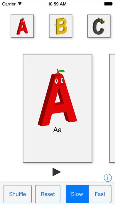 Alphabet Cards (English) iPhone Screenshot 1