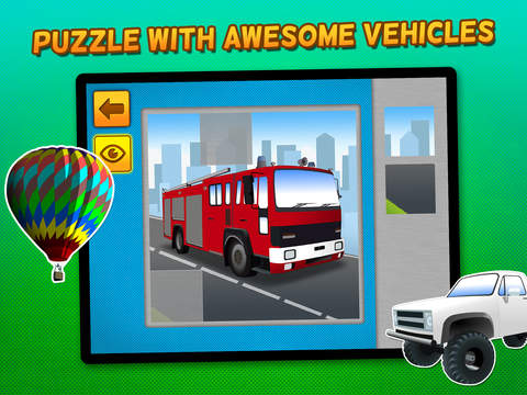 Kids & Play Cars, Trucks, Emergency & Construction Vehicles Puzzles – Freescreeshot 1