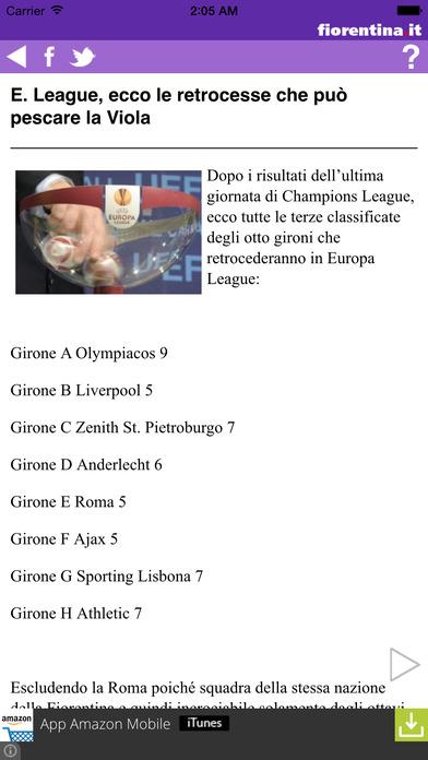 Fiorentina.it iPhone Screenshot 2