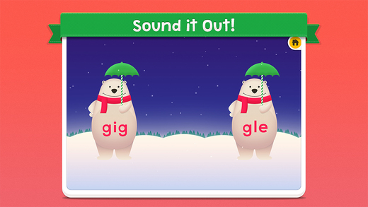 Jiggly 'The Phonics Bear' Words Match
