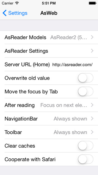 AsWeb - Web browser for AsReader