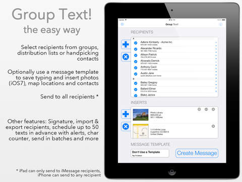 Group Text! iPad Screenshot 1