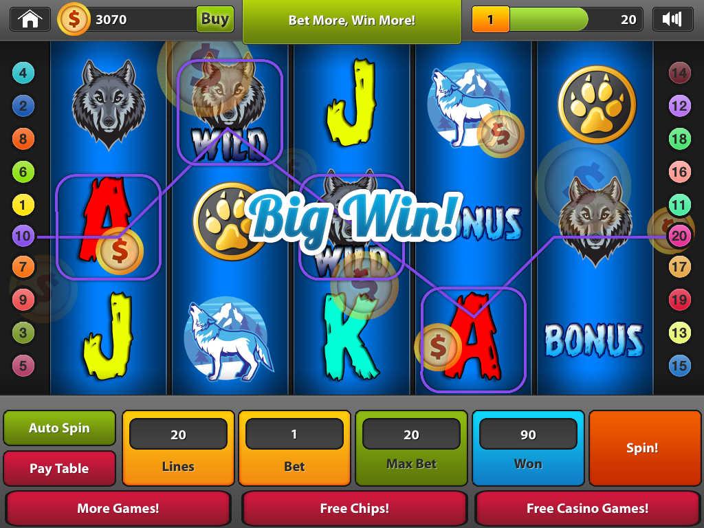free online wild wolf slots app