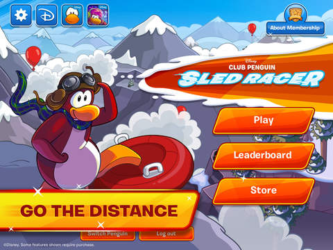企鹅俱乐部滑雪赛