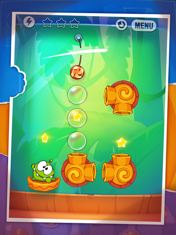 Screenshot #1 for Cut the Rope: Experiments HD