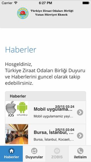 Türkiye Ziraat Odaları Birliği - TZOB Mobil