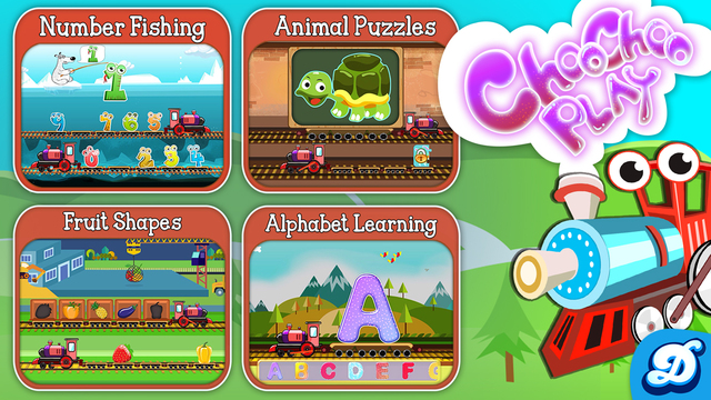 Choo Choo Train Play - Alphabet Number Animal Fruit Learning Game