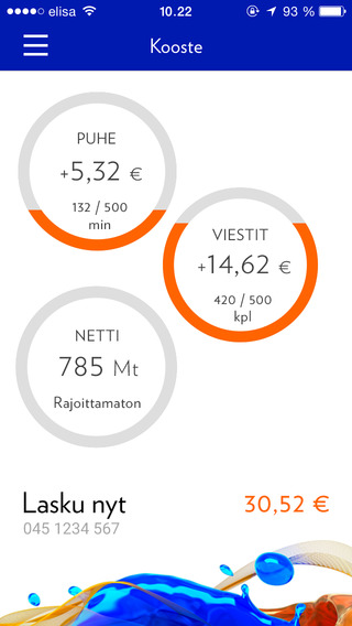 Mobiili OmaElisa Saunalahti-liittymille