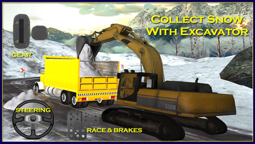 Snow Plow Truck Driver 3D Simulator - Drive snowblower to clear up ice and excavate the snow with ex