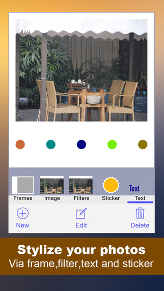 PhotoStyle - easy photo editor for frame poster montage collage and text on image