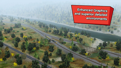 Trainz Driver 2 - train driving game, realistic 3D railroad simulator plus world builder screenshot 3