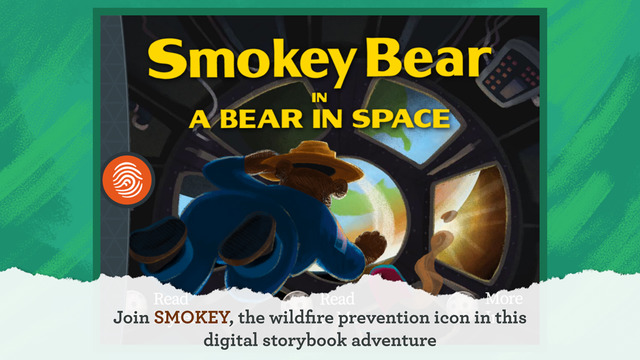 Smokey Bear in Space - A Fingerprint Network App