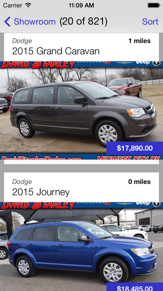 David Stanley Chrysler Jeep Dodge Dealer App iPhone Screenshot 2