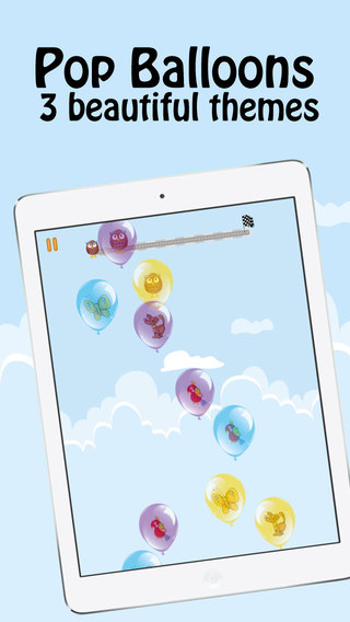 Funny Balloons: Pop Balloons and Bubbles for Kids