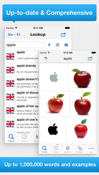 Advanced English French Dictionary Translation - Dictionnaire Anglais Français
