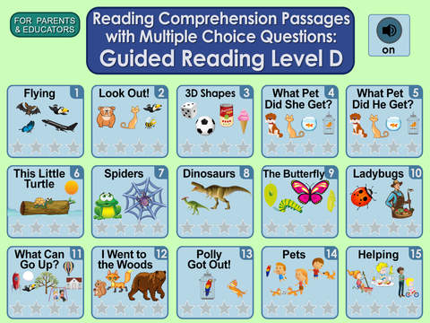Reading Comprehension Passages with Multiple Choice Questions ~ Guided Reading Level D