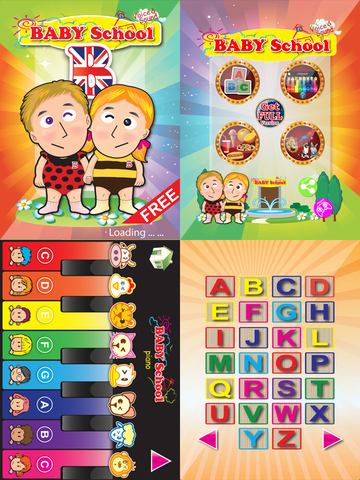 Baby School -Sound Voice Card Flash Card Piano Words Card Free for iPad
