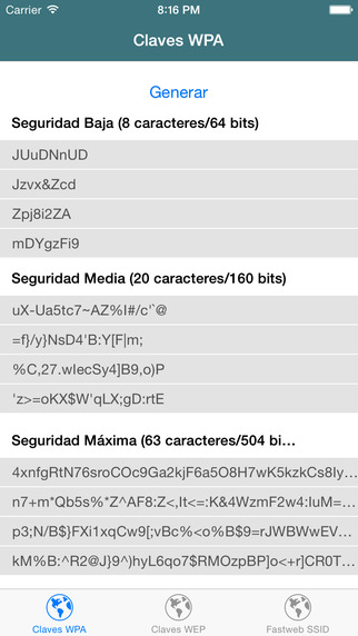 Claves Wi-Fi - WPA WEP