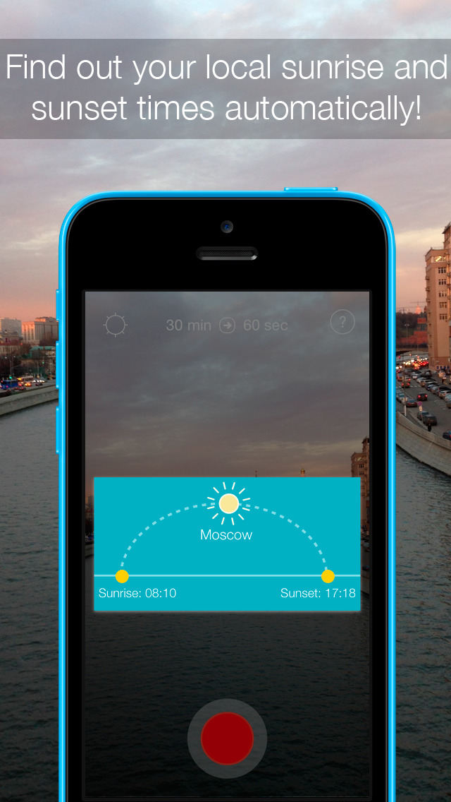 InstaSun — shoot time-lapse videos of sunsets and sunrises!