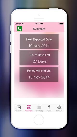 Period Tracker Logs Fertility Period Calendar and Ovulation tracker