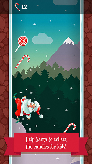 Running Santa - Candy climb Free