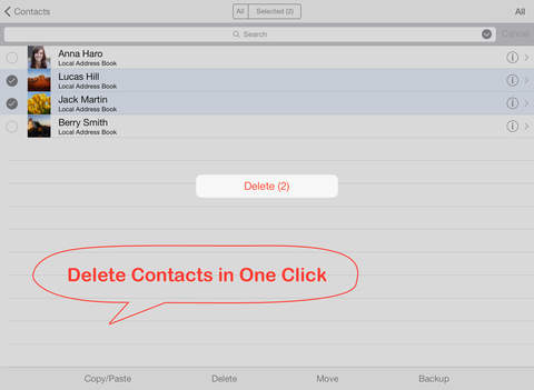 Delete Contacts+ screenshot
