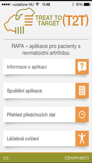 RAPA - Aplikace pro pacienty s revmatoidní artritidou