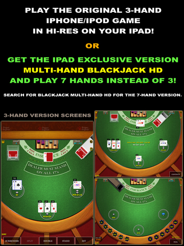 Blackjack 21 Pro - Multi-Hand (Vegas Casino Fun) screenshot