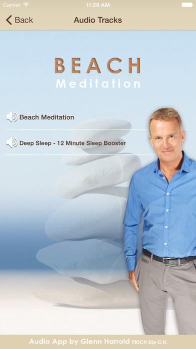 Beach Meditation by Glenn Harrold: Self-Hypnosis Relaxation for Sleep iPhone Screenshot 2