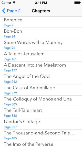 Edgar Allan Poe iPhone Screenshot 2
