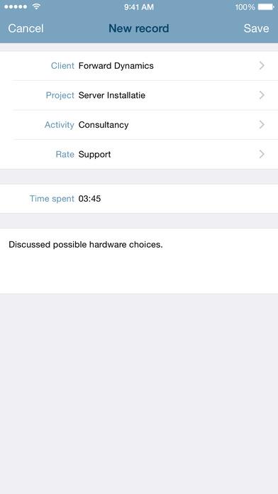 nuTijd Mobile iPhone Screenshot 2