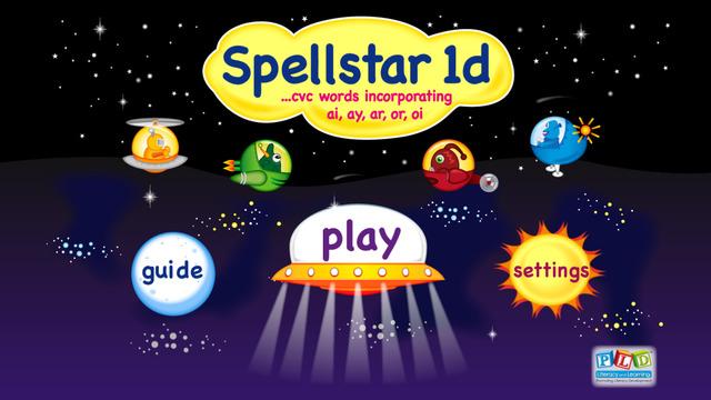 PLD Spell Star 1d: ar or ai ay oi