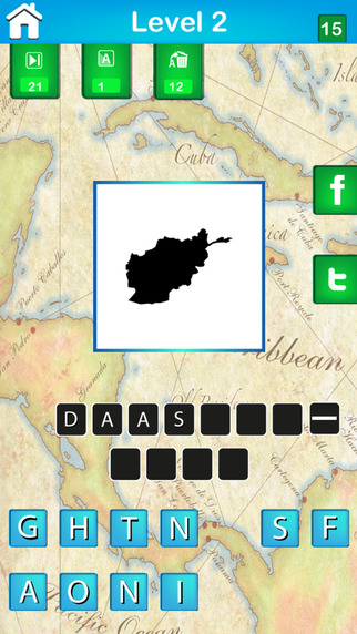 Guess the Country Map HD ~ Guess the Pics and Photos in this Popular Word Puzzle Quiz