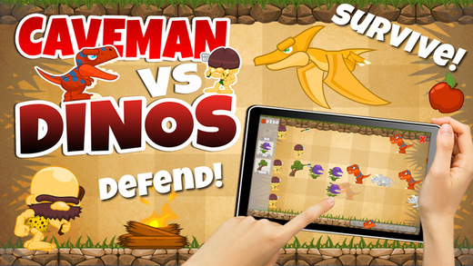 Caveman Vs Dino Defense