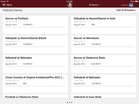 Seminoles.com for iPad 2014