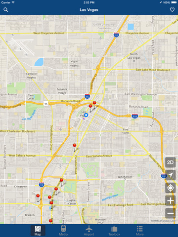 Las Vegas Offline Map - City Metro Airport Screenshots