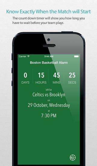 Boston Basketball Alarm