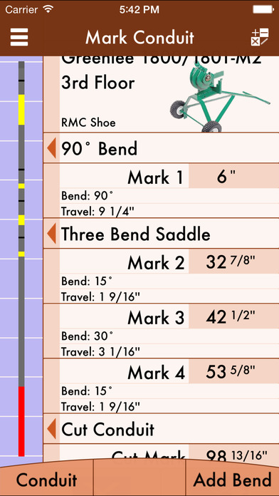 Rigid conduit bending calculator app report on mobile action app screenshot for rigid conduit bending calculator in united states app store greentooth Choice Image