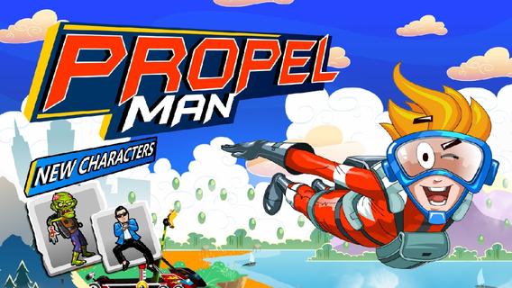 飞行超人:propel man【弹射飞行】(iphone/ipad通用版