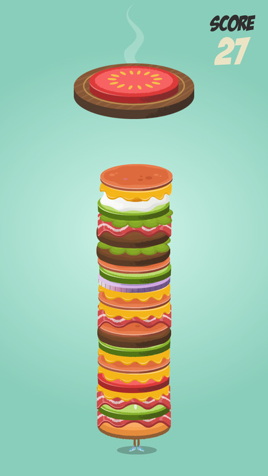Burger Tower: Build the funniest and tallest burger ever