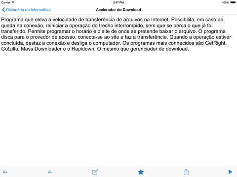Dicionário de Informática iPad Screenshot 2