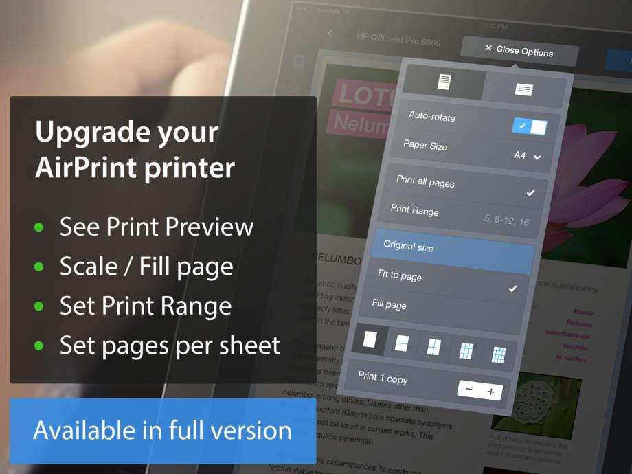 Printer Pro Lite - iPhone Mobile Analytics and App Store Data