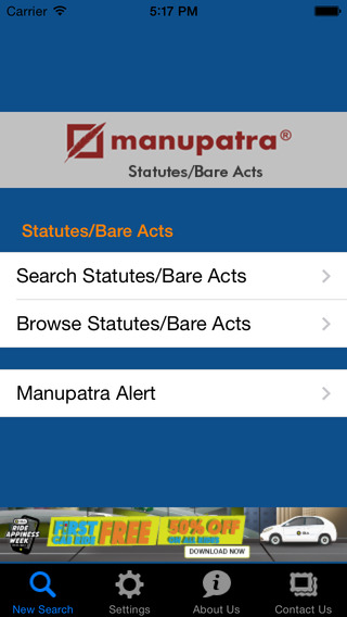Manupatra Statutes Bare Acts